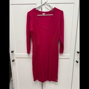 Guess Hot Pink Sweater dress